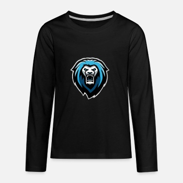 Famous Youtubers Merch New NvarPlayzGamez Branding!! Cool Animated Lion - Kids' Premium Long Sleeve T-Shirt
