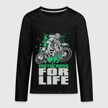Motocross For Life Stunt - Kids' Premium Long Sleeve T-Shirt