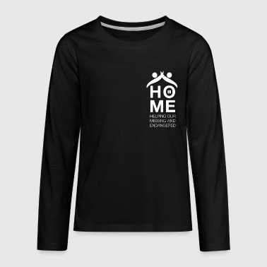 White Logo - Kids' Premium Long Sleeve T-Shirt