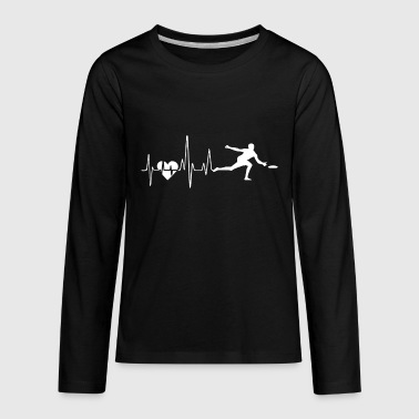 Ultimate Frisbee Ultimate Frisbee Heartbeat Shirt - Kids' Premium Long Sleeve T-Shirt