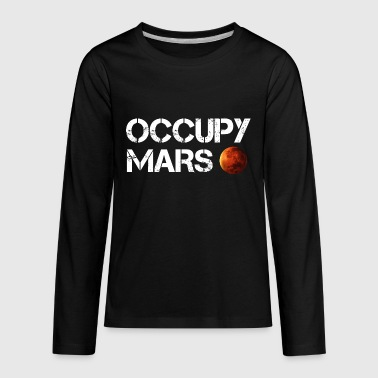 Occupy Mars Elon Musk Joe Rogan Smoking Weed - Kids' Premium Long Sleeve T-Shirt