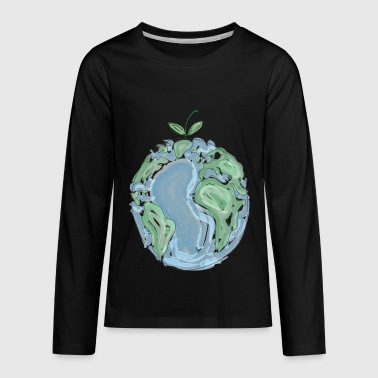Planet Earth quot Earth Day Everyday quot - Kids' Premium Long Sleeve T-Shirt