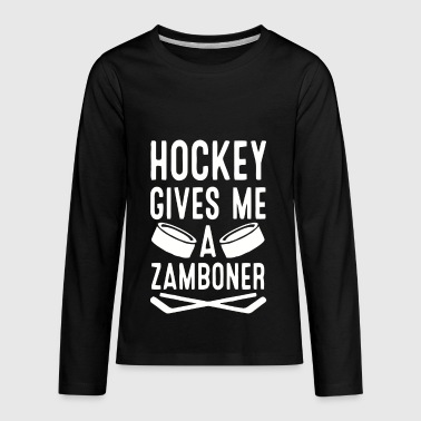 hockey gives me a zamboner - Kids' Premium Long Sleeve T-Shirt