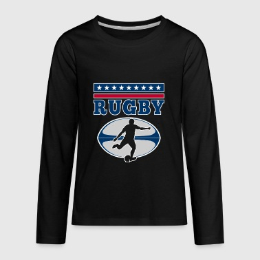Rugby - football vintage USA player design - Kids' Premium Long Sleeve T-Shirt