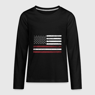 Latvia America Flag Gift Baltic Sea - Kids' Premium Long Sleeve T-Shirt