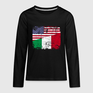 Italian ITALIAN ROOTS | American Flag | ITALY Gift - Kids' Premium Long Sleeve T-Shirt