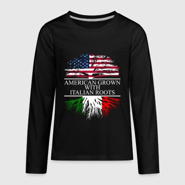 American Italian american grown with italian roots - Kids' Premium Long Sleeve T-Shirt