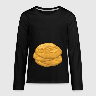pfannkuch pancakes crepes breakfast fruehstueck17 - Kids' Premium Long Sleeve T-Shirt