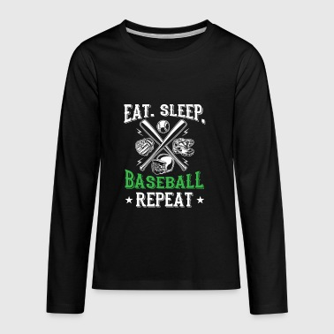 Eat. sleep. baseball repeat - cool sport design - Kids' Premium Long Sleeve T-Shirt