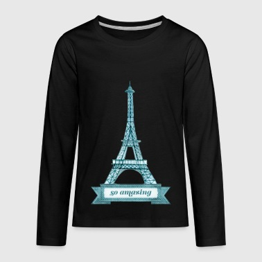 Eiffel Tower - Kids' Premium Long Sleeve T-Shirt