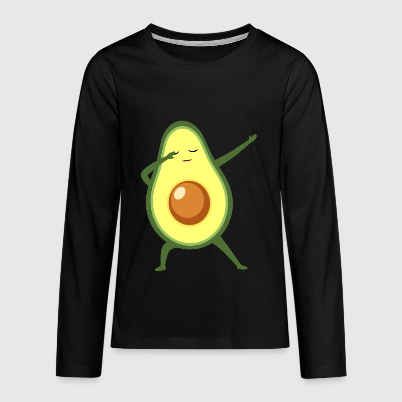 Funny Dabbing Avocado Gift Design - Kids' Premium Long Sleeve T-Shirt