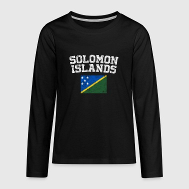 Solomon Islander Flag Shirt - Vintage Solomon - Kids' Premium Long Sleeve T-Shirt