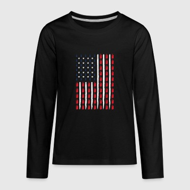 USA Vape Vaping gift birthday present - Kids' Premium Long Sleeve T-Shirt