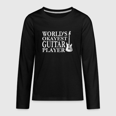 Worlds Okayest Guitar Player - Kids' Premium Long Sleeve T-Shirt