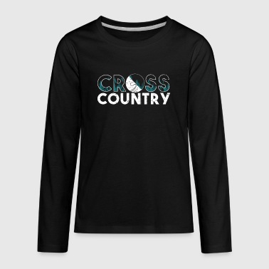 Backcountry Skis Cross Country Skiing Funny Ski Shirt - Kids' Premium Long Sleeve T-Shirt