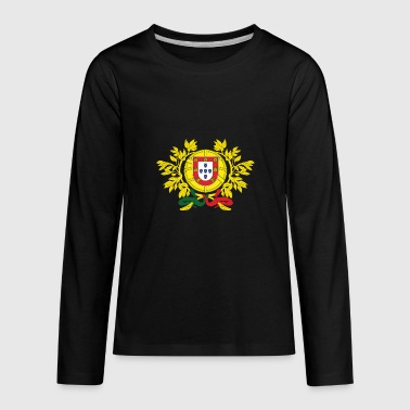 National Coat Of Arms Of Portugal - Kids' Premium Long Sleeve T-Shirt