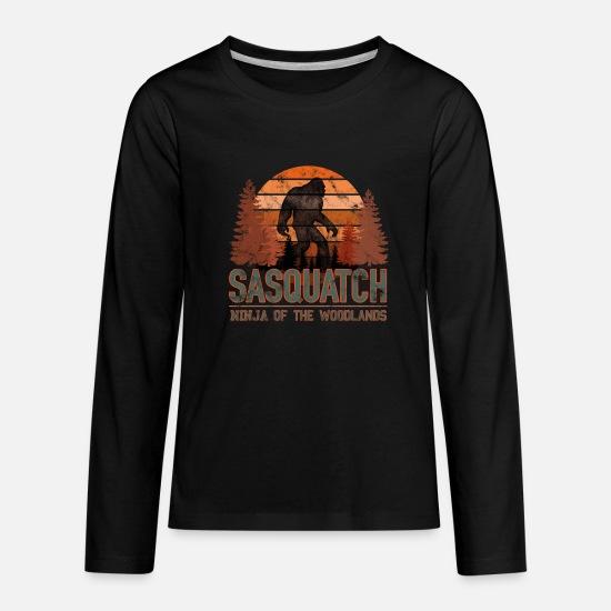 Bigfoot Sasquatch Yeti Ninja Gift Kids' Premium Longsleeve