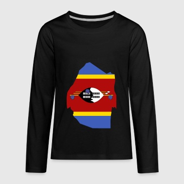 Swaziland Flag Map - Kids' Premium Long Sleeve T-Shirt