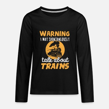 Model Train Lover Trains Model Making Train Watching - Kids' Premium Long Sleeve T-Shirt
