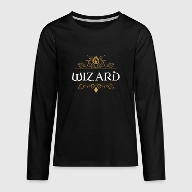 Wizard Dragons in Dungeons Tabletop RPG - Kids' Premium Long Sleeve T-Shirt