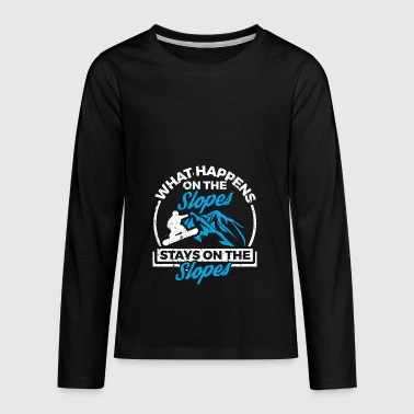 Funny Snowboard Snowboarding Shirt On The Slopes - Kids' Premium Long Sleeve T-Shirt