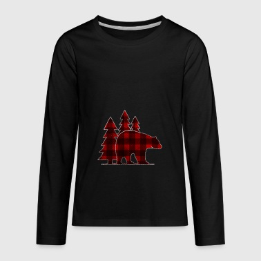 Shirt as a gift for Lumberjack - Bear and trees - Kids' Premium Long Sleeve T-Shirt