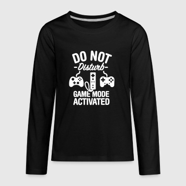 Do not disturb game mode activated - Kids' Premium Long Sleeve T-Shirt