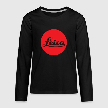 Leica Red Logo - Kids' Premium Long Sleeve T-Shirt