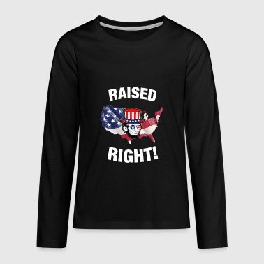 Raised Right Raised Right Abraham Lincoln - Kids' Premium Long Sleeve T-Shirt