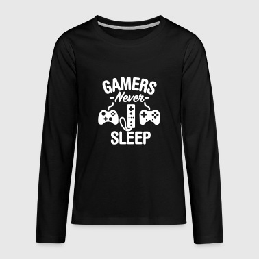Gamers never sleep - Kids' Premium Long Sleeve T-Shirt