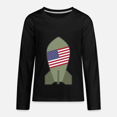 Bomb Nuclear American Nuclear Bomb - Kids' Premium Long Sleeve T-Shirt