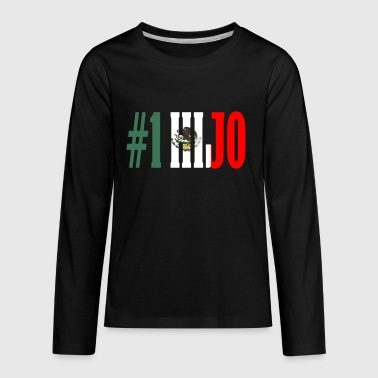 Gift For Mexican Hijo Gift Mexican Design For Mexican Flag Design For Mexican Pride - Kids' Premium Long Sleeve T-Shirt