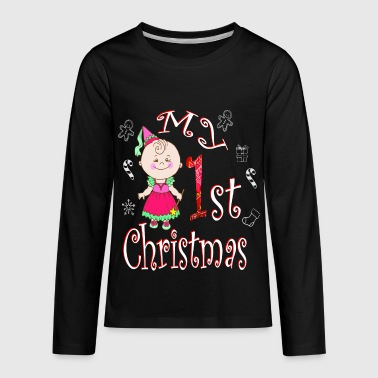 Funny Ugly Christmas My 1ST Baby Girl Toddler - Kids' Premium Long Sleeve T-Shirt