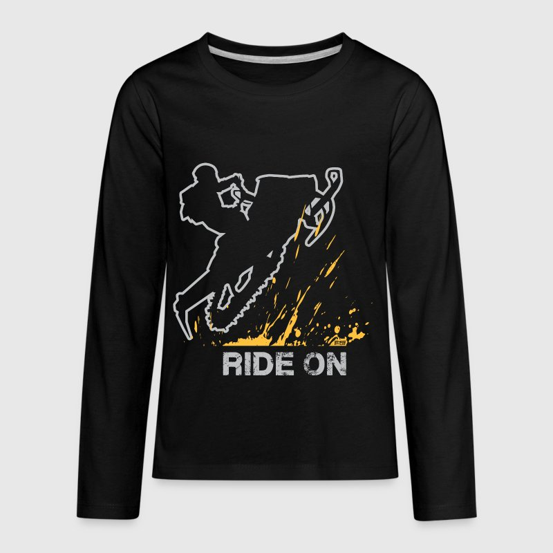 Snowmobile Ride On - Kids' Premium Long Sleeve T-Shirt