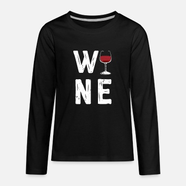 Wine Now its time for wine / Wine Lover Gifts - Kids' Premium Long Sleeve T-Shirt