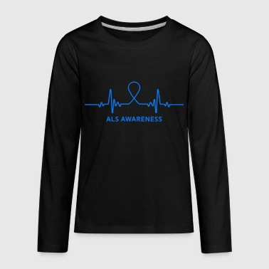 Als Awareness Amyotrophic lateral sclerosis ALS Awareness - Kids' Premium Long Sleeve T-Shirt