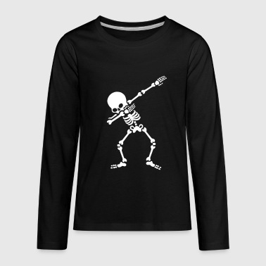 Skeleton Costume Dabbing skeleton (Dab) - Kids' Premium Long Sleeve T-Shirt