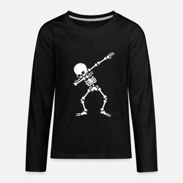 Funny Dabbing skeleton (Dab) - Kids' Premium Long Sleeve T-Shirt