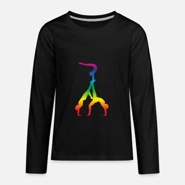 Cheerleader Acrobatics Acrobatics, Gymnastics - Kids' Premium Long Sleeve T-Shirt