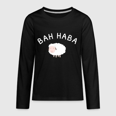 Bar Harbor Maine, Bah Haba Sheep - Kids' Premium Long Sleeve T-Shirt