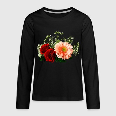 Gerbera Daisy Gerbera Daisy And Two Roses - Kids' Premium Long Sleeve T-Shirt