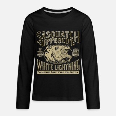 Squatchin Sasquatch Uppercut White Lightning - Kids' Premium Long Sleeve T-Shirt