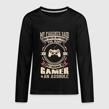 I Became A Gamer - Kids' Premium Long Sleeve T-Shirt