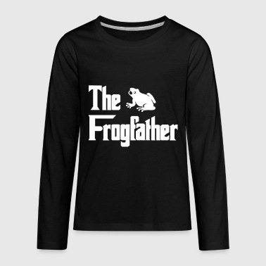 Frog Lovers The Frogfather Frog Gift for Frog Lovers - Kids' Premium Long Sleeve T-Shirt