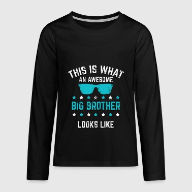 New Big Brother Awesome Big Brother Gift - Kids' Premium Long Sleeve T-Shirt