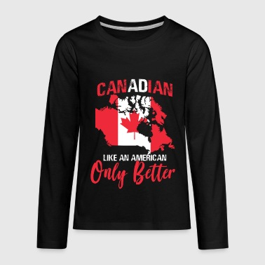 Canadian - Kids' Premium Long Sleeve T-Shirt
