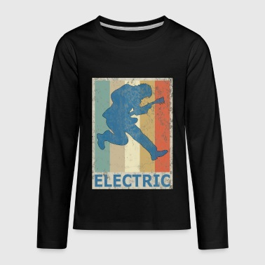 Eguitar Retro Vitage Style Electric Guitar Player Bass - Kids' Premium Long Sleeve T-Shirt