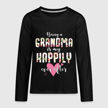 Hippie Grandma Being A Grandma Is My Happily Ever After Hippie - Kids' Premium Long Sleeve T-Shirt