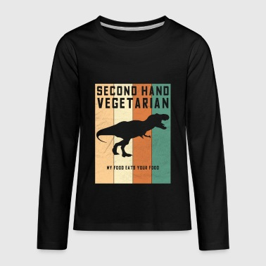 Second Hand Vegetarian Dinosaur - Kids' Premium Long Sleeve T-Shirt