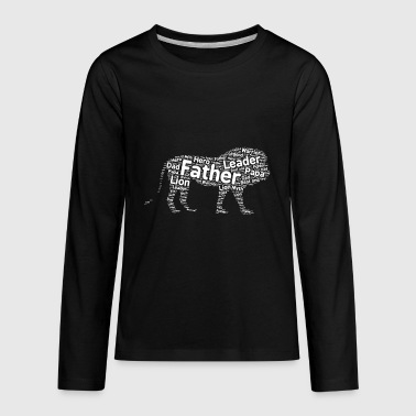 Word Art Lion father word art - Kids' Premium Long Sleeve T-Shirt